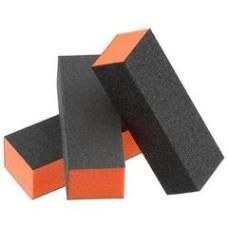 Dixon Orange Buffer Black Grit Premium 3-Way, 100/100 Grit
