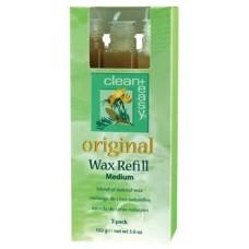 Clean+Easy Medium Original Wax Refill 3 Pack