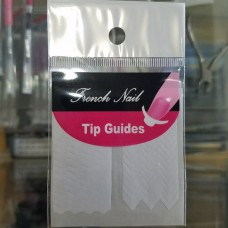 French Nail Tip Guides, Zig Zag Sheet B