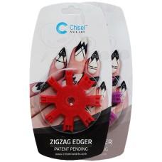 Chisel Nail Art - Zig Zag Edger