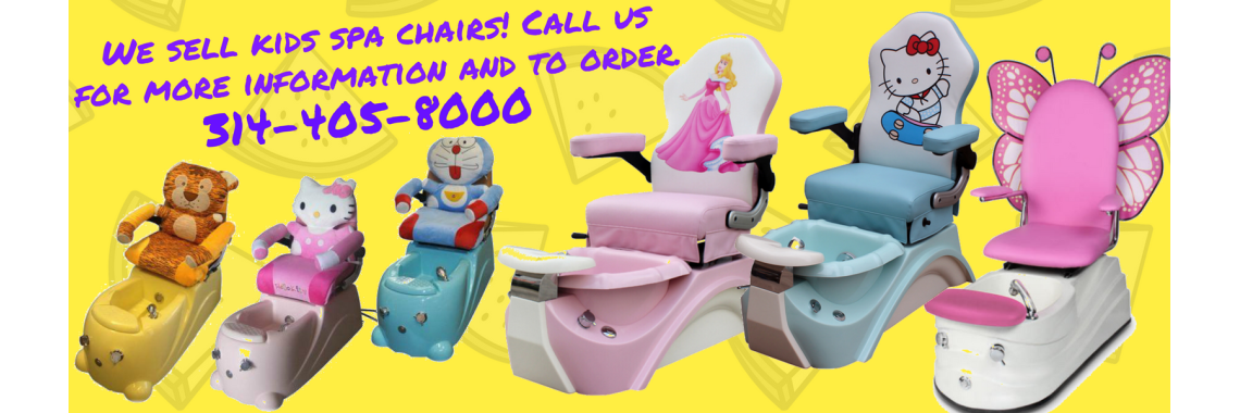 Kids spa chairs! Call 314-405-8000 to order.